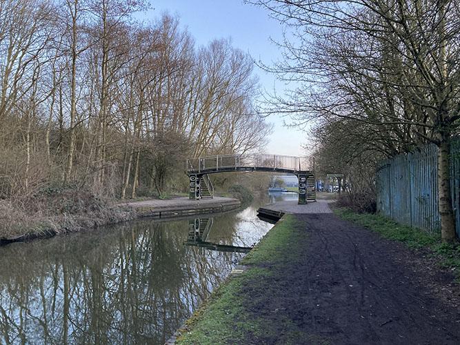 Coombes footbridge 2021 by Heather Wastie
