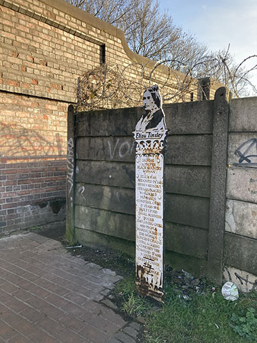 Luke Perry sculpture – Eliza Tinsley by Heather Wastie