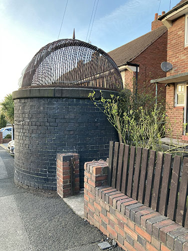 Tunnel ventilation shaft in Station Road by Heather Wastie