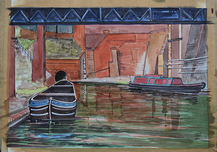 Philip Adams: Stewarts & Lloyds, South end Gosty Hill Tunnel 1977. Watercolour.